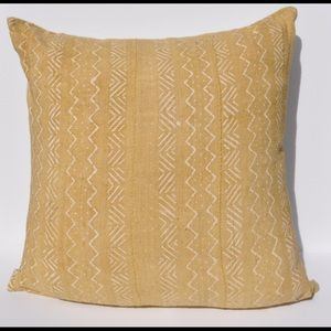 Other - Mustard Yellow Mudcloth Pillows